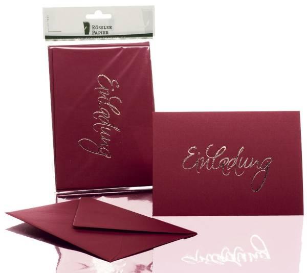RÖSSLER Briefkarte B6 HD 5/5 rosso 1181955072 EINLADUNG