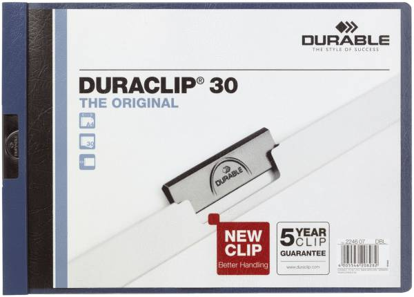 Klemm Mappe DURACLIP 30 QUERFORMAT, DIN A4, dunkelblau®