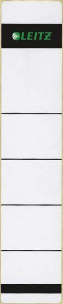 1643 Rückenschilder Papier, kurz schmal, 10 Stück, hellgrau