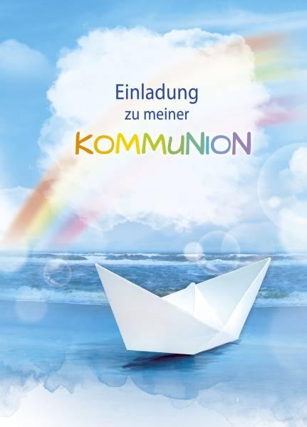 Einladung Kommunion 5 Stück, inkl Umschlag