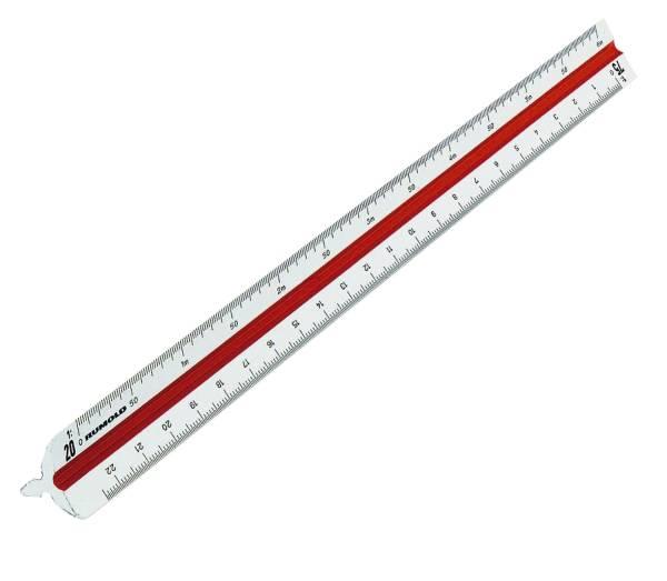 RUMOLD Dreikantmaßstab 30cm weiß 160/2 berufschul