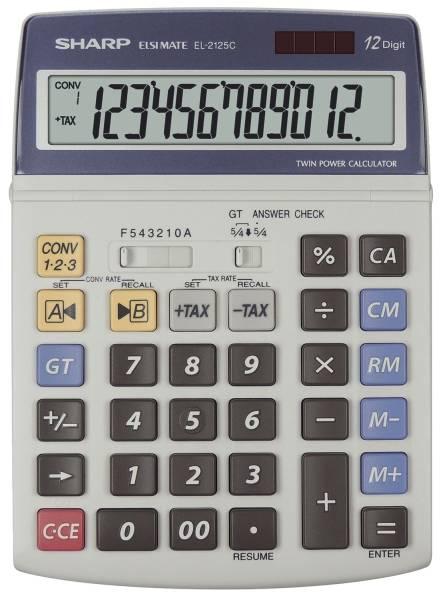 SHARP Tischrechner SH-EL2125C 12 Stellen