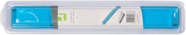 Q-CONNECT Handgelenkauflage transp.blau KF20088 f.Tastatur