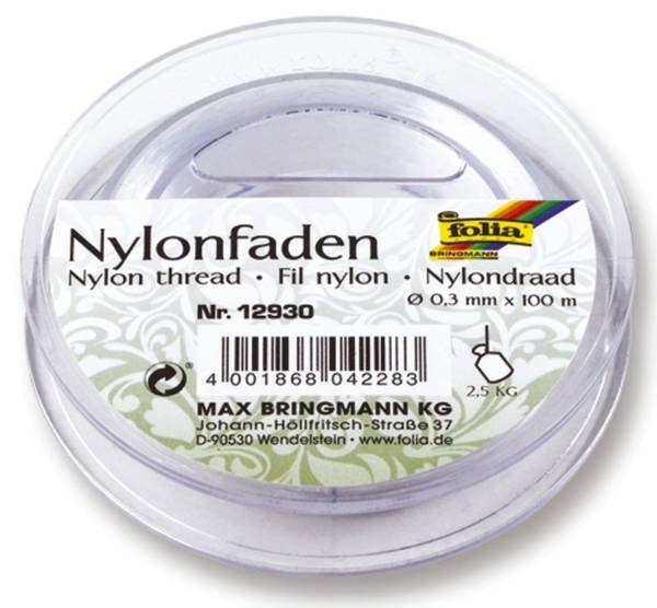 Nylonfaden 0,3 mm, 100 m Spule