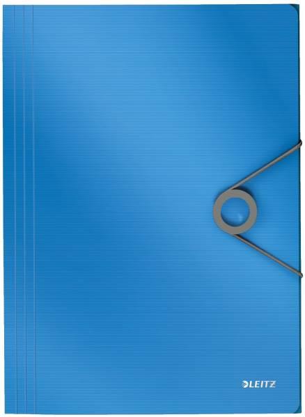 4563 Dreiflügelmappe Solid A4, PP, hellblau