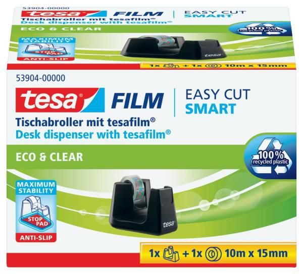 Tischabroller Smart ecoLogo inkl 1 Rolle Klebefilm Eco & Clear®