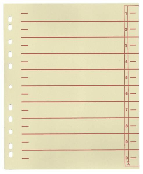 Trennblätter, farbiger Organisationsdruck A4 Überbreite, rot, 100 Stück