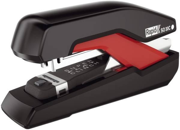 RAPID Heftgerät Supreme SO30C schwarz/rot 5000550 30 Blatt