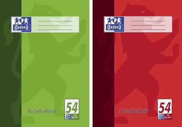 Vokabelheft LIN54 A4, 40 Blatt, liniert