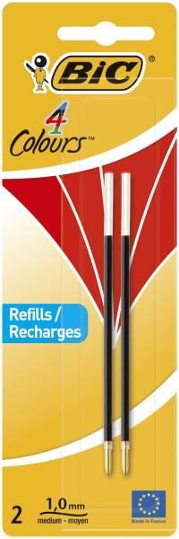 4 COLOURS Kugelschreibermine 0,4 mm, 2 Stück, rot