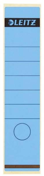 1640 Rückenschilder Papier, lang breit, 10 Stück, blau
