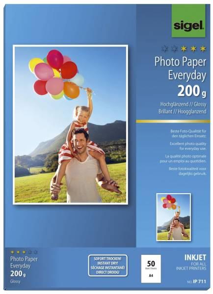 Inkjet Fotopapier Everyday A4, hochglänzend, 200 g qm, 50 Blatt