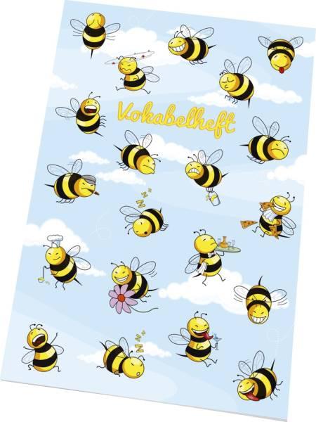 """Vokabelheft """"Crazy Bees"""" LIN21, A5, 40 Blatt, 80 g qm"""
