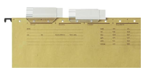 6114 Vollsichtreiter, 60 mm, 4 zeilig, Kunststoff, transparent