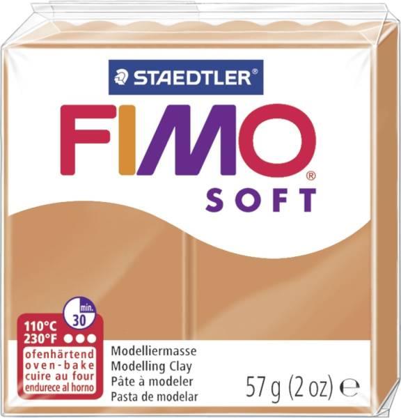 STAEDTLER Modelliermasse Fimo cognac 8020-76 Soft 56g
