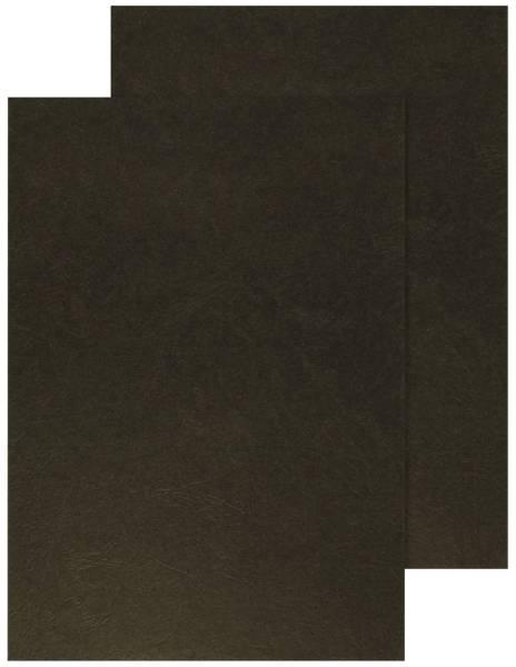Q-CONNECT Einbanddeckel Leder A4 schwarz KF00501 250g 100ST