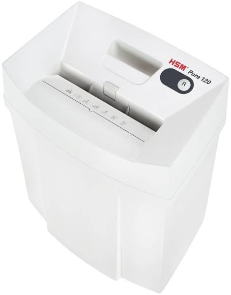 HSM Aktenvernichter Pure 120 weiß 2310111 Streif. 3,9mm