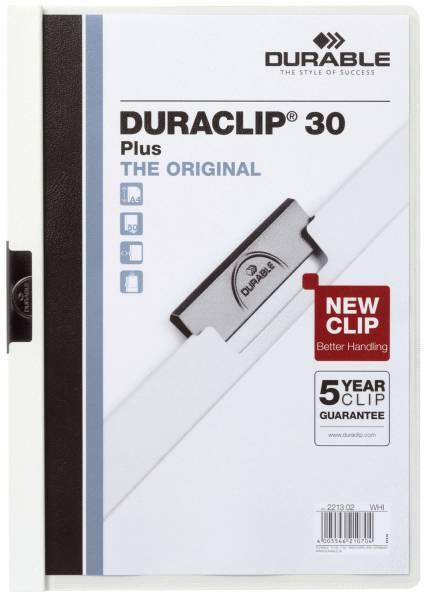 Klemm Mappe DURACLIP 30 PLUS, DIN A4, weiß®