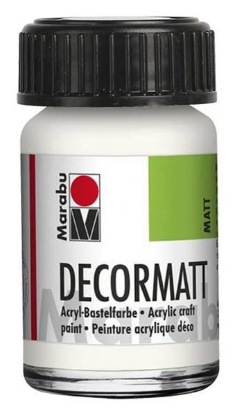 MARABU Decormatt Acryl weiß 1401 39 070 15ml Glas