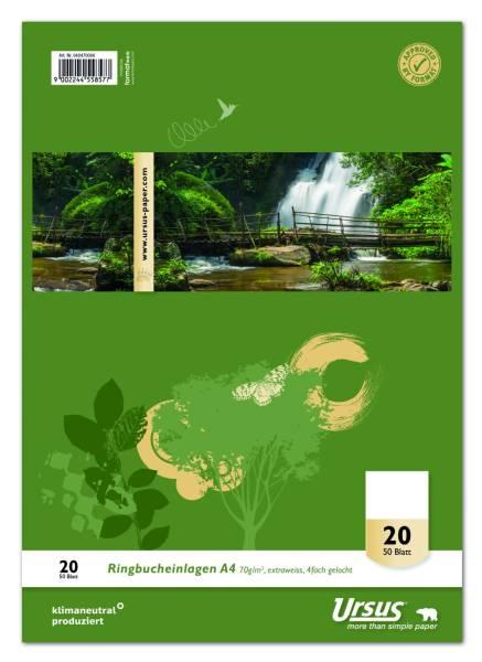 Ringbucheinlage LIN20, A4, 50 Blatt, 70 g qm, blanko