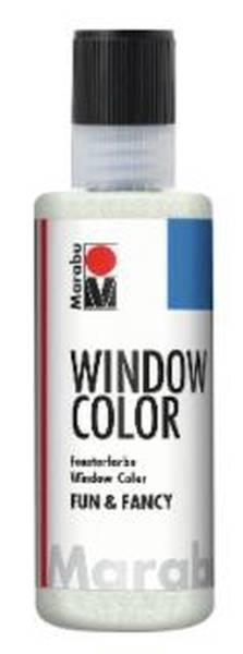 MARABU Fensterfarbe Fun&Fancy glitter-silber 04060 004 582 80ml
