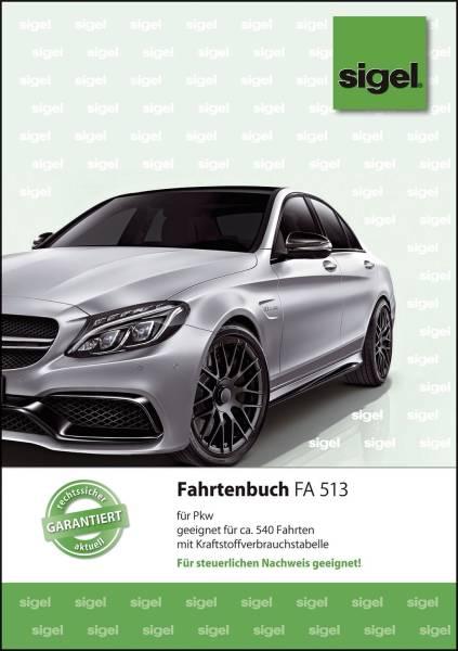 Fahrtenbuch für Pkw mit Klammerheftung, A5, 32 Blatt