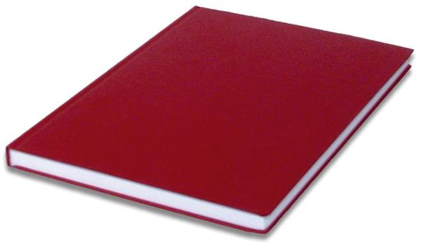 RÖSSLER Notizbuch SOHO A4 96BL rot 1878452362 blanko
