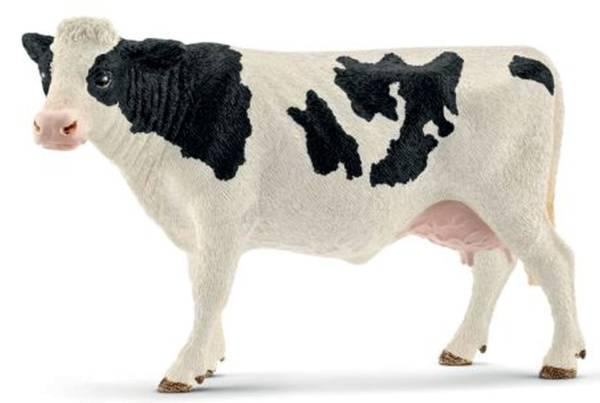 Spielzeugfigur Kuh Schwarzbunt