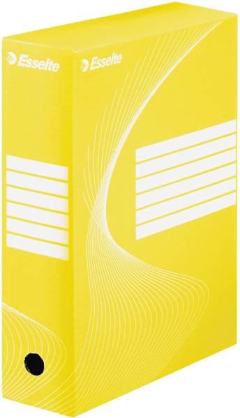 Archiv Schachtel DIN A4, Rückenbreite 10 cm, gelb