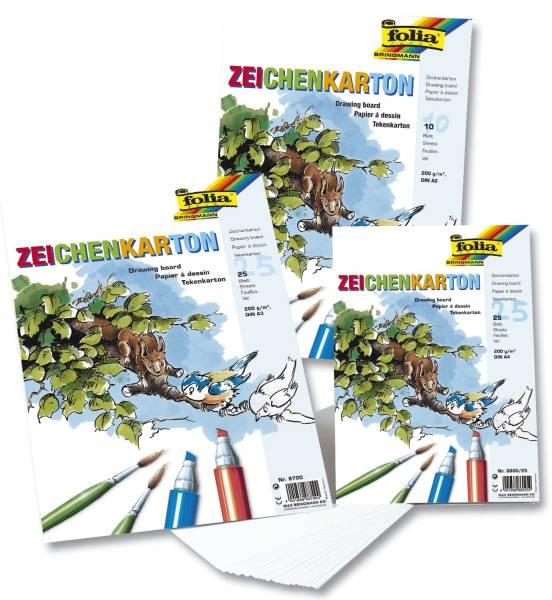 Zeichenkarton 200 g qm, DIN A2, Einzelblätter