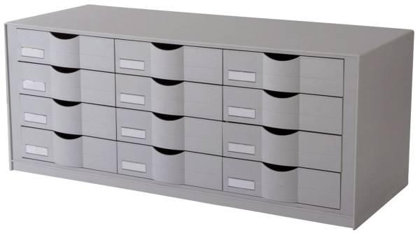 Schubladenelement für Rolladenschrank easyOffice grau