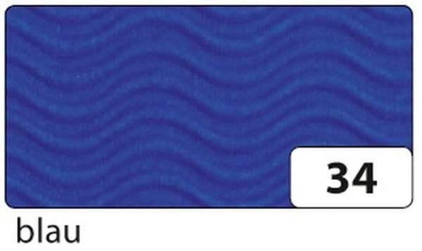 Bastelwellpappe 50 x 70 cm, blau, 3D Wellenform