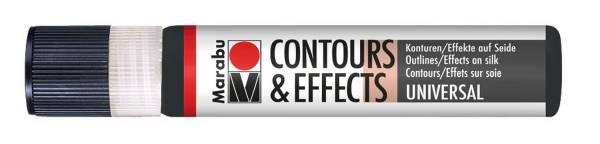 Contours & Effects Schwarz 073, 25 ml