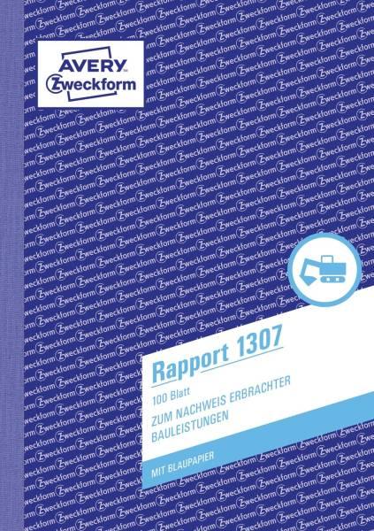 1307 Rapport, DIN A5, vorgelocht, 100 Blatt, weiß