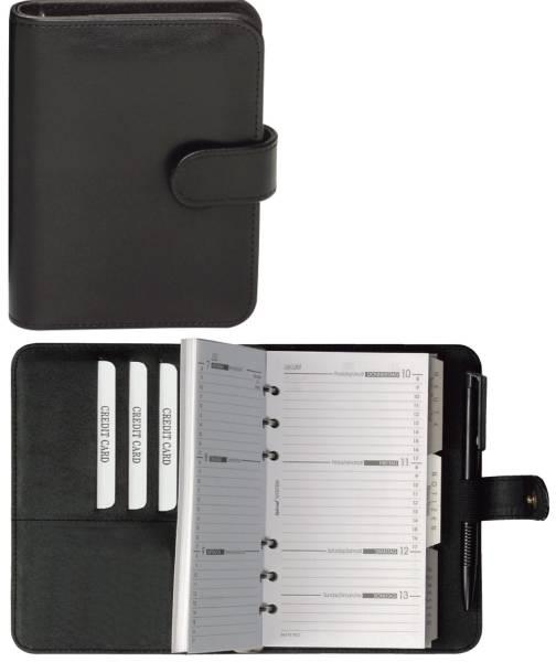 BIND Zeitplaner A6 Kunstst. schwarz 16501 mit Kalendarium