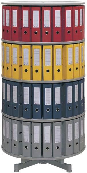 REEF Ordnerdrehsäule 4 Etagen grau R2081B4