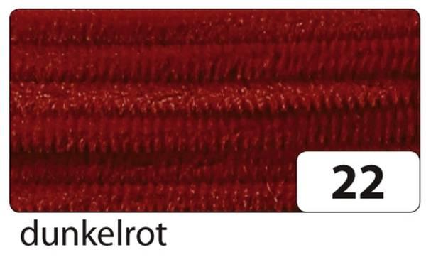 Chenilledraht 8 mm, 10 Stück, dunkelrot