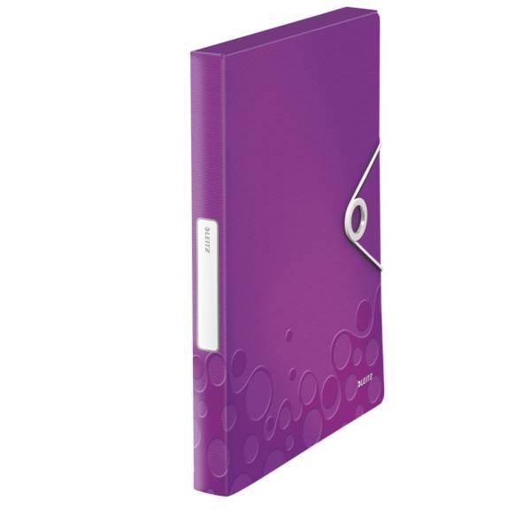 LEITZ Heftbox WOW A4 violett metall. 4629-00-62