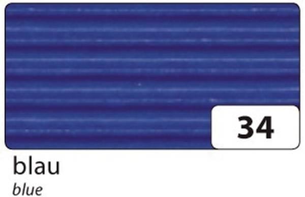 Bastelwellpappe 50 x 70 cm, blau