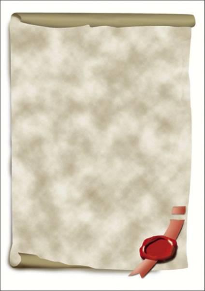 Motiv Papier, Urkundenrolle, A4, 185 g qm, 12 Blatt
