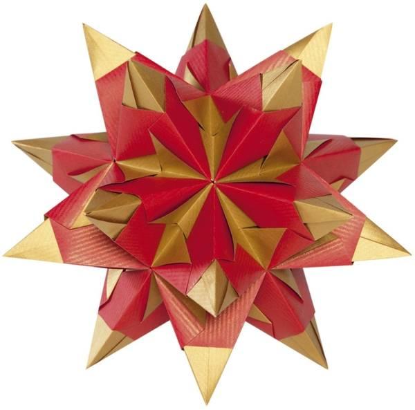 Bascetta Stern rot gold, Ø 20 cm