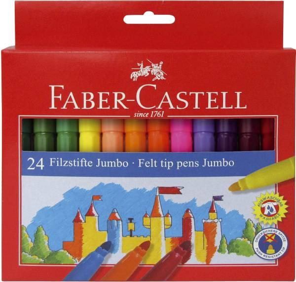 FABER CASTELL Faserschreiber 24ST Jumbo sort. 554324