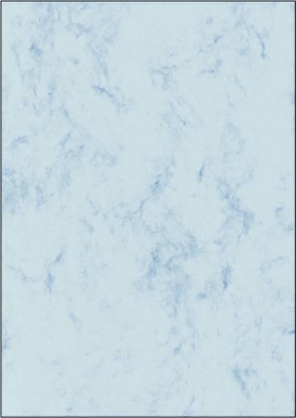 Marmor Papier, blau, A4, 90 g qm, 100 Blatt