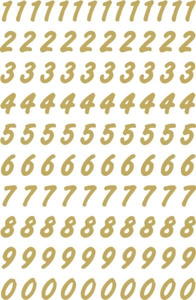 HERMA Zahletikett 0-9 wetterfest gold 4151