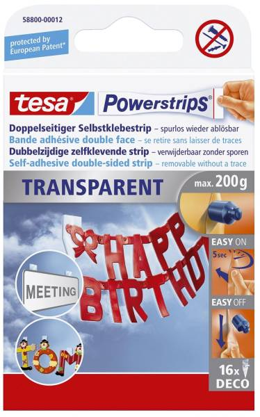 TESA Power Strips Deco transparent 58800-00012-03 16ST