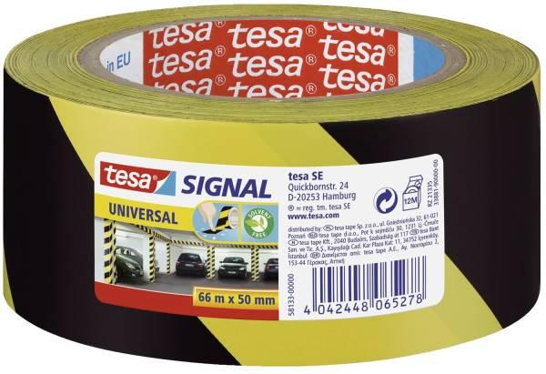 TESA Markierungsband gelb/schwarz 58133-00000-00 50mm 66m