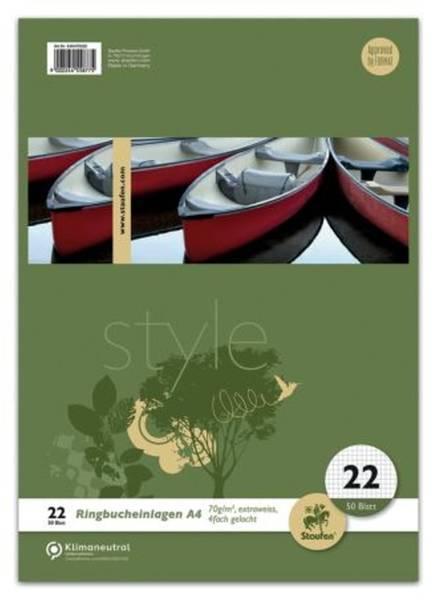 Ringbucheinlage LIN22, A4, 50 Blatt, 70 g qm, kariert