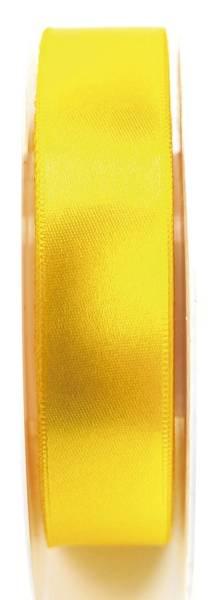 Doppelsatinband gelb, 25 mm x 25 m