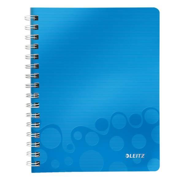 LEITZ Collegeblock A5 Wow blau metal 4639-00-36 80Bl lin.
