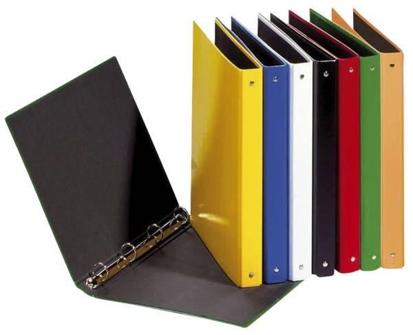 Ringbuch Basic Colours A5, 4 Ring, Ring Ø 25mm, farbig sortiert, 12 Stück
